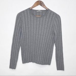 Everlane Luxe Wool Ribbed Crew Neck Sweater